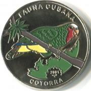 Куба 2001 1 песо Попугай cotorra