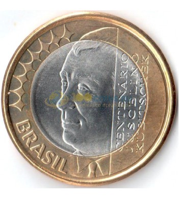 Бразилия 2002 1 реал Жуселину Кубичек ди Оливейра