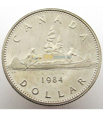 Канада 1984 1 доллар Каноэ