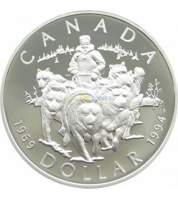 Канада 1994 1 доллар Патруль на собачьих упряжках proof