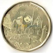 Канада 2017 1 доллар 150 лет Конфедерации