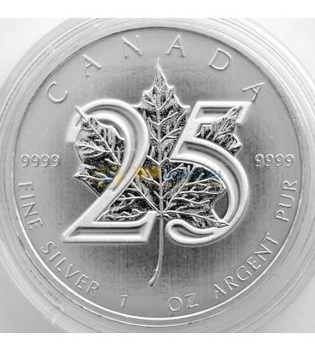 Канада 2013 5 долларов Кленовый лист 25 лет