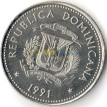 Доминикана 1991 25 сентаво