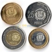 Доминикана 2008-2010 набор 4 монеты