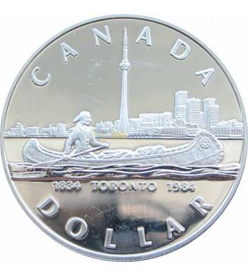Канада 1984 1 доллар Торонто 150 лет (proof)