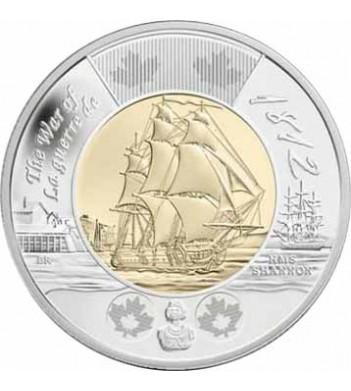 Канада 2012 2 доллара Фрегат Шеннон Война 1812 года
