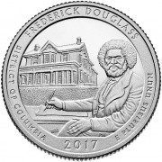 США 2017 Квотер национальные парки №37 Фредерик Дуглас (D)