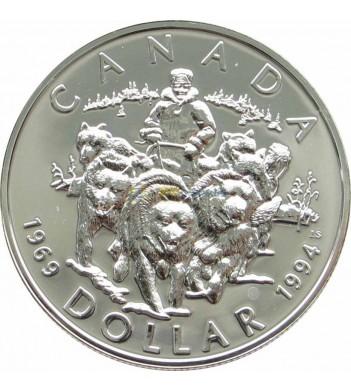 Канада 1994 1 доллар Патруль на собачьих упряжках