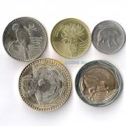 Колумбия 2012-2016 набор 5 монет животные