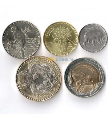 Колумбия 2017-2018 набор 5 монет животные