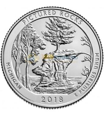 США 2018 Квотер национальные парки №41 Мичиган (S)