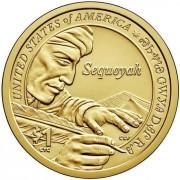 США 2017 1 доллар Сакагавея Письменность Чероки №10 (D)
