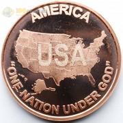 США унция медная Один народ под Богом