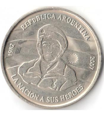 Аргентина 2007 2 песо 25 лет оккупации Фолклендских островов