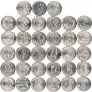 США Набор 40 монет Национальные парки квотеры