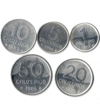 Бразилия 1979-1985 Набор 5 монет