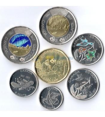 Канада 2017 набор 7 монет 150 лет Конфедерации
