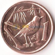 Каймановы острова 2008 1 цент 2008 Дрозд
