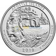 США 2018 Квотер национальные парки №42 Апостольские острова (D)
