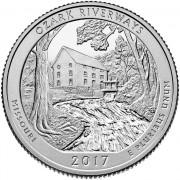 США 2017 Квотер национальные парки №38 Озарк (D)