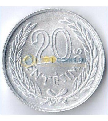 Уругвай 1965 20 сентимо