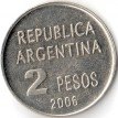 Аргентина 2006 2 песо Защита прав человека