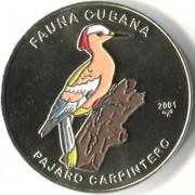 Куба 2001 1 песо Кубинский дятел