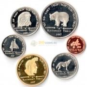 США 2017 набор 6 монет резервация Блэкфут