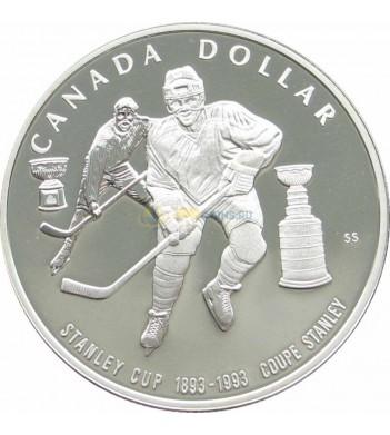 Канада 1993 1 доллар Кубок Стенли хоккей proof