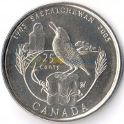 Канада 2005 25 центов Саскачеван