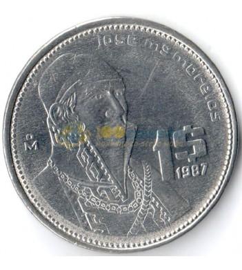 Мексика 1984-1987 1 песо Хосе Морелос