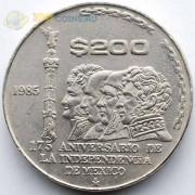 Мексика 1985 200 песо 75 лет независимости