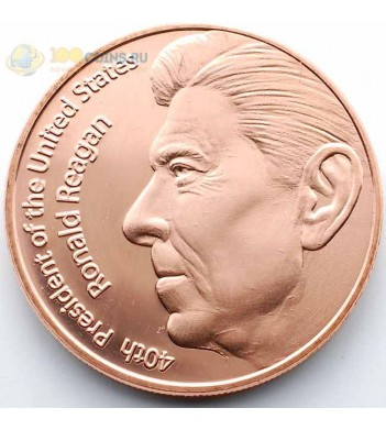 США унция медная Рональд Рейган