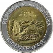 Аргентина 2010 1 песо Развалины крепости Пукара