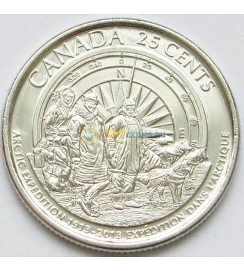 Канада 2013 25 центов Арктическая экспедиция
