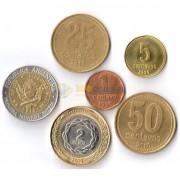 Аргентина 1989-2010 набор 6 монет