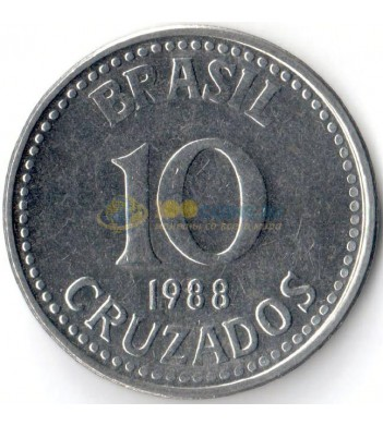 Бразилия 1988 10 крузадо