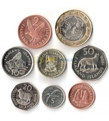 Фолклендские острова набор 8 монет 1998-2011