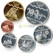 США 2017 набор 6 монет резервация Навахо
