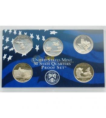 США Набор годовой 2004 квотеры S