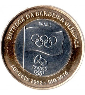 Бразилия 2012 1 реал Эстафета передачи олимпийского флага