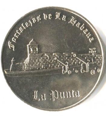 Куба 2007 1 песо Крепость Сан Сальвадор де ла Пунта