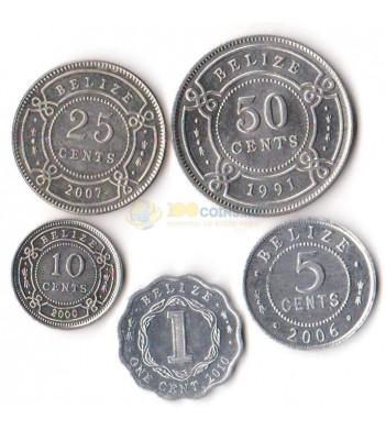 Белиз 1991-2010 набор 5 монет