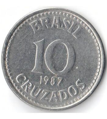 Бразилия 1987 10 крузадо