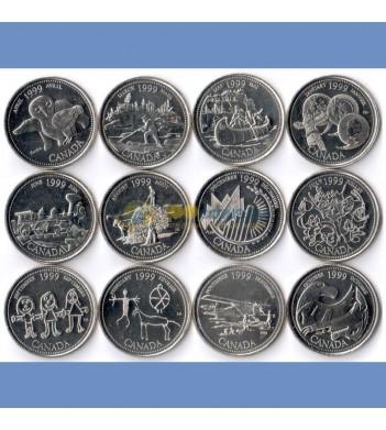 Канада набор 1999 12 монет Месяцы года