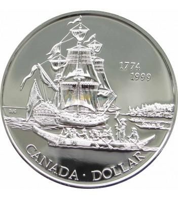 Канада 1999 1 доллар Остров Шарлотты Парусник