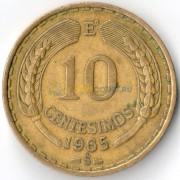 Чили 1965 10 сентесимо