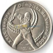 Куба 2006 1 песо Олимпиада Бейсбол