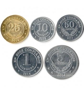 Никарагуа 2012-2014 Набор 5 монет