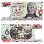 Аргентина бона (313) 10 песо 1983-1984
